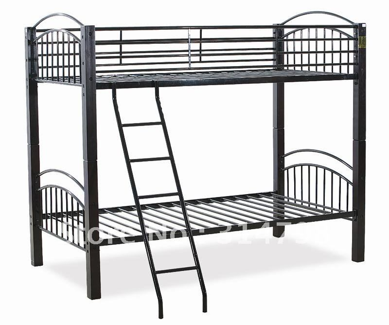 Metal Bunk Bed Made Of Solid Wood With Painting And Steel