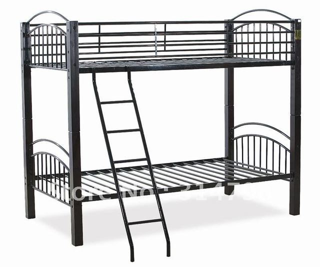Metal Bunk Bed Made Of Solid Wood With Painting And Steel Tube