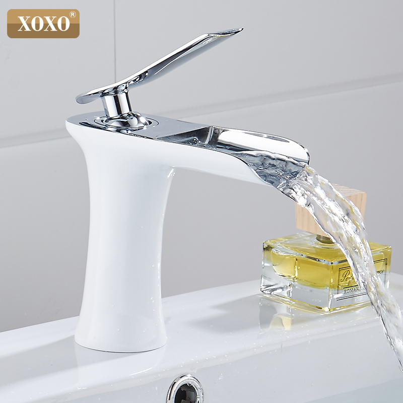 XOXO Basin Faucets Waterfall Bathroom Faucet Single handle Basin Mixer Tap Bath Faucet Brass Sink Water