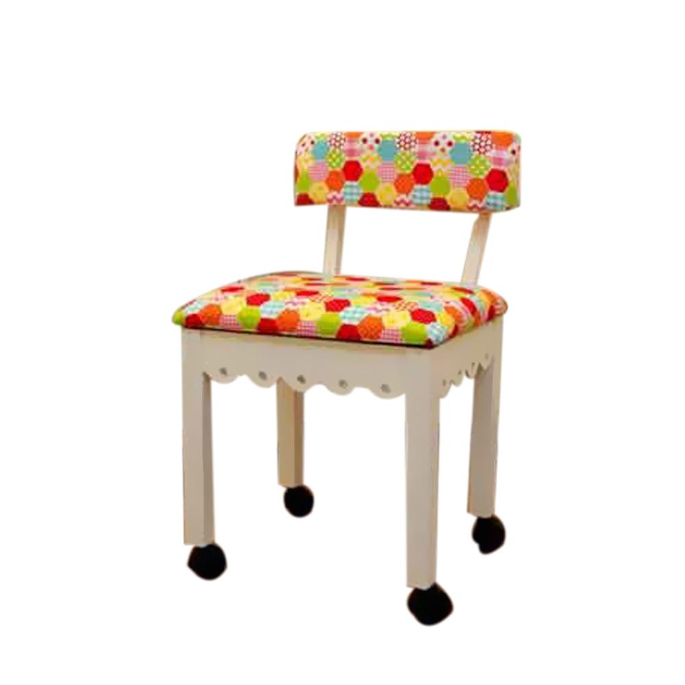 Arrow Home Furniture Riley Blake Hexi-Print Sewing Chair arrow home furniture riley blake hexi print sewing chair