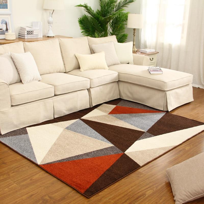 3D Moderne Salon Géométrie Tapis Table Basse Chambre Tapis et Tapis Couloir pour Chevet Carpet Obtenir Tapis De Bain Lavable