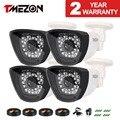 Tmezon 4 pack AHD CCTV Camera 1500TVL 1.3MP 960P High Definition Security Bullet Waterproof Camera 30 IR Leds Night Vision 85ft