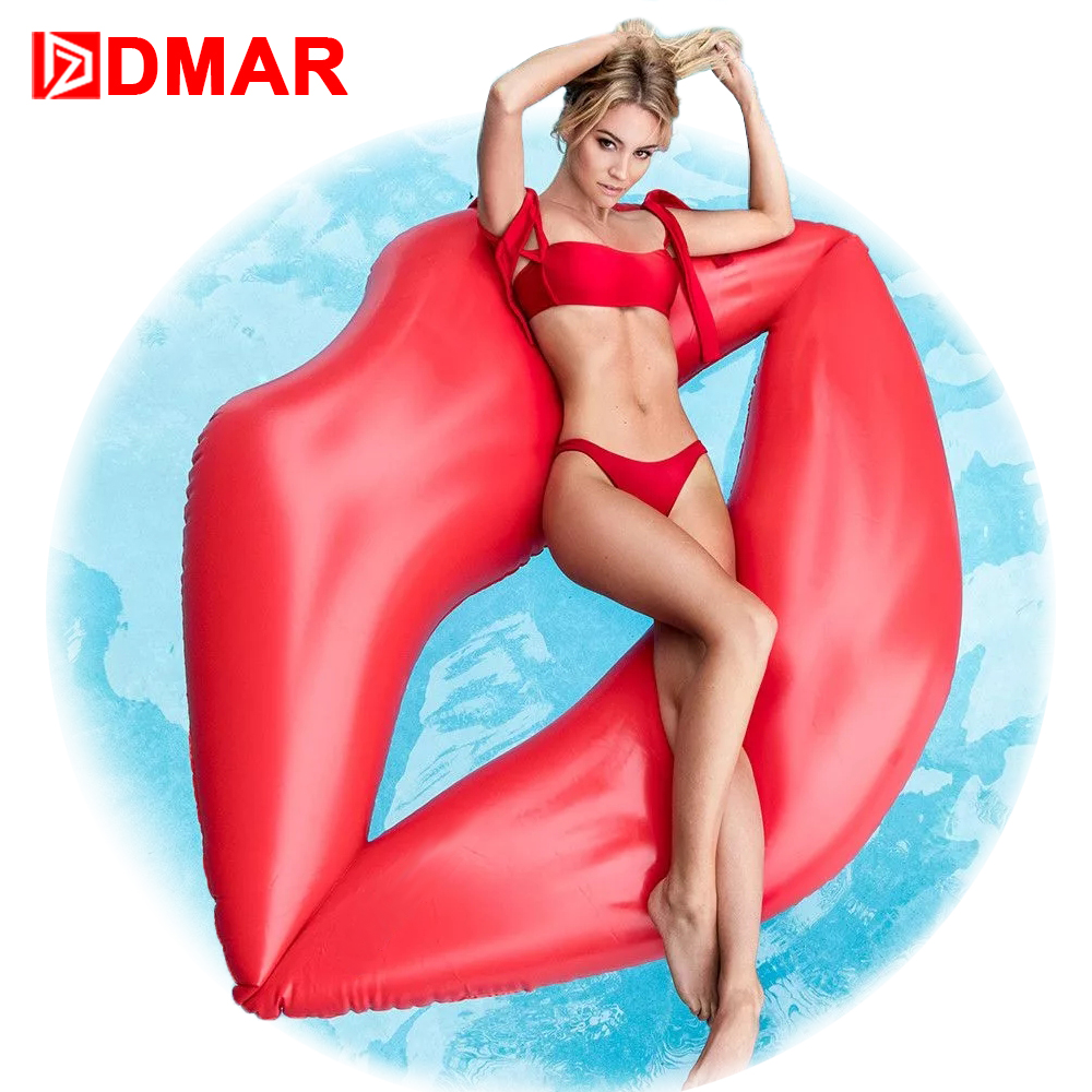 DMAR 180cm Inflatable Lips Giant Pool Float Toys Swimming Ring Inflatable Mattress Water Sea Beach Party Adults Flamingo Unicorn