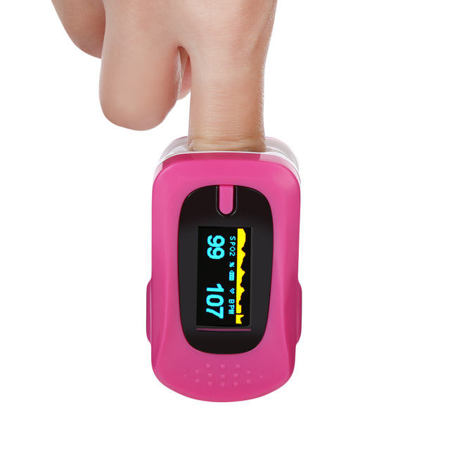 Portable Household Health Monitors Oximeter CE Medical Heart Rate Monitor LED Fingertip Pulse Oximeter Finger Blood Oxygen-Cool