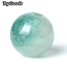 TopGoods Natural Gemstone Beads Green Jasper Loose Rosary Stone Beads 6/8/10mm 15'' Jade Stone Quartz Gem For Bracelet Making(China)