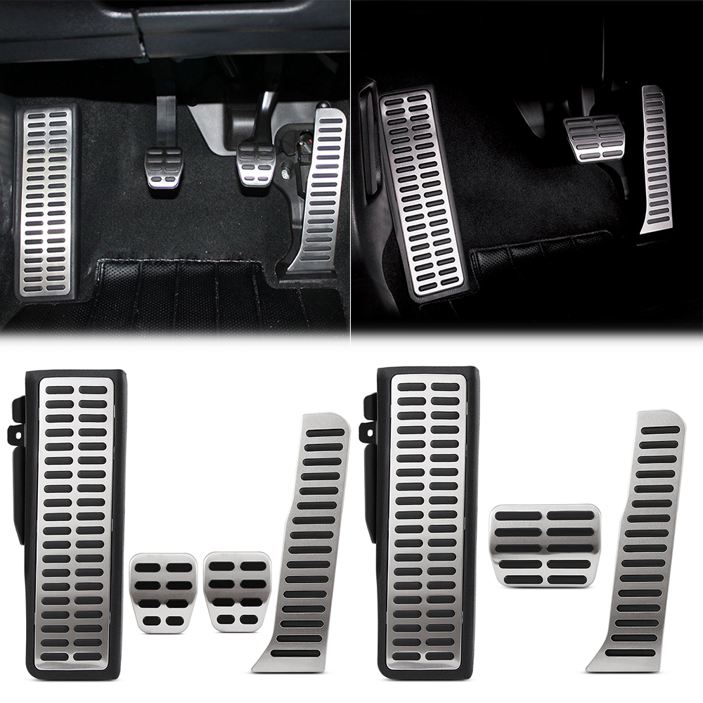 Stainless Steel Manual Automatic Transmission AT MT Pedal Pads Foot Rest for VW Golf 6 GTI MK6 Jetta MK5 Scirocco Octavia Tiguan
