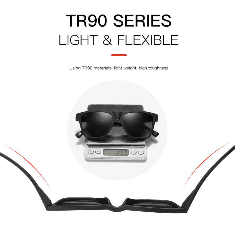 KDEAM Unbreakable TR90 מקוטב גברים קל במיוחד עיצוב שמש משקפיים נהיגה רכב ספורט גווני חבילה עם מקרה קשה