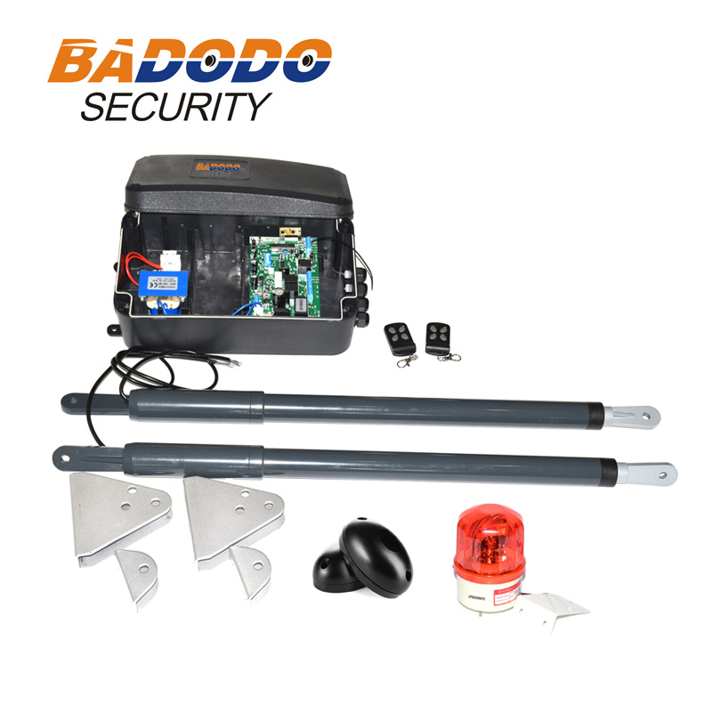with fingerprint keypad optional automatic swing gate opener gate actuators kit 12VDC 200kg per leaf-in Access Control Kits from Security & Protection    2