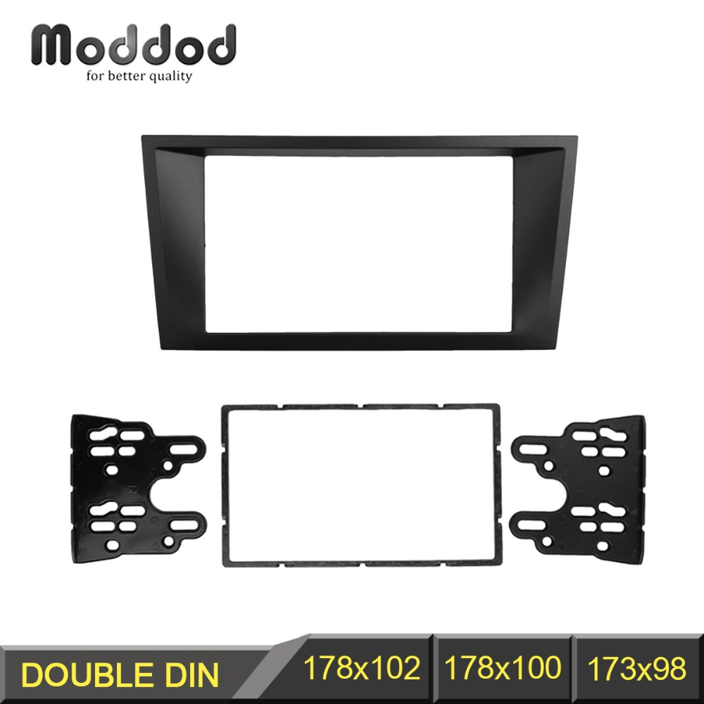 Doble Din Fascia para FORD Mondeo 2002-2006 CD Facia Stereo Panel Dash Mount Instalar Kit de ajuste Marco de montaje