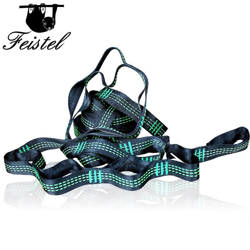 Green C-Style Hammock Straps Hamac RopeGreen C-Style Hammock Straps Hamac Rope