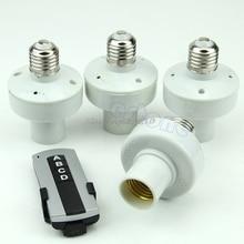 4Pcs Wireless Remote Control E27 Light Lamp Bulb Holder Cap Socket Switch Whosale&Dropship