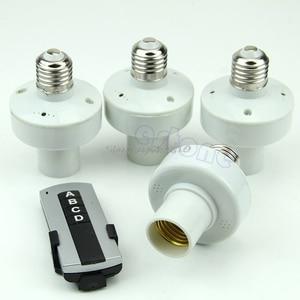 Image 1 - 4Pcs Wireless Remote Control E27 Light Lamp Bulb Holder Cap Socket Switch Whosale&Dropship