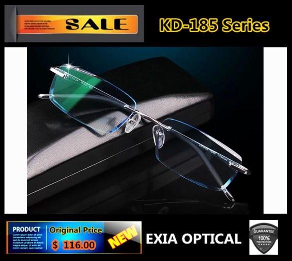 Rimless Glasses Men Optical Super Tough 1.61 ASP Lenses Optical Eyewear Brand EXIA OPTICAL KD-185