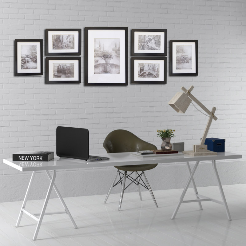 Giftgarden Black Nordic Frames Gallery Wall Frame Set Poster Picture Frame Set Decoration Accessories Set Of