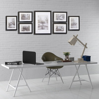 Giftgarden Black Nordic Frames Gallery Wall Frame Set Poster Picture Frame Set Decoration Accessories Set Of 7 PCS