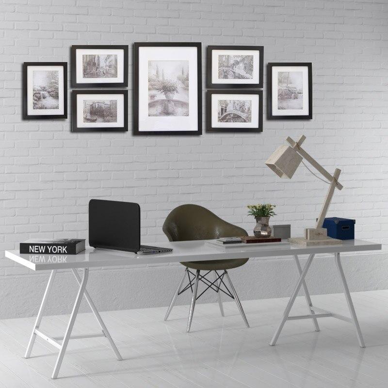 Giftgarden noir nordique cadres galerie mur cadre ensemble affiche photo cadre ensemble décoration accessoires ensemble de 7 pièces