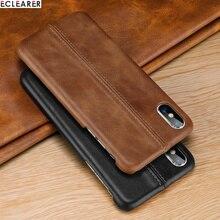 Для iPhone х чехол из натуральной кожи чехол для iPhone 7 8 плюс Чехол роскошь шить кожаный чехол для телефона для iPhone 6 6S Plus