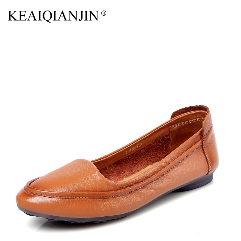 Keaiqianjin Brun Blanc Printemps Automne Chaussures Femme Casual Mocassins Appartements forme army Noir Plate Espadrille blanc Oxford 2017 Green marron Vert Noir fq8f0r