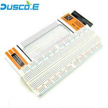 Placa de ensaio de MB-102 mb102, placa de ensaio 830 ponto universal teste de protótipo para arduino