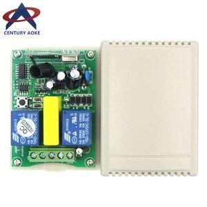 Image 5 - 220V motor garaj kapısı/projeksiyon ekranı/kepenkler AC220V dijital ekran akıllı RF kablosuz uzaktan kumanda anahtarı