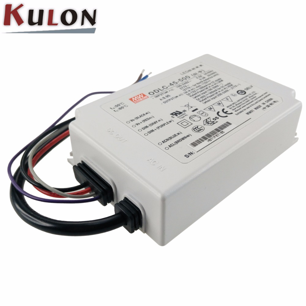 Meanwell ODLC-45-500 45W Constant Current LED Driver 115v 500mA DALI Control Switching Power Supply Adapter for Led Lamps strip