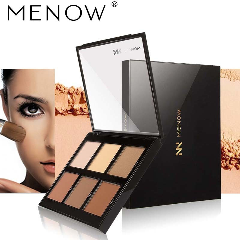 Menow 6 Colors Profession Concealer Palette Face Contour Foundation Modified Three-dimensional Face Cover <font><b>Dark</b></font> Circles Cosmetic