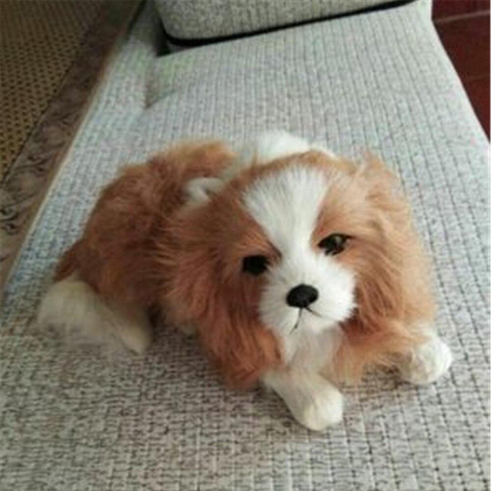 Fancytrader имитация плюша кавалер король Шарль спаниель собака игрушка для детей реалистичное качество собака кукла 20 см 7 дюймов