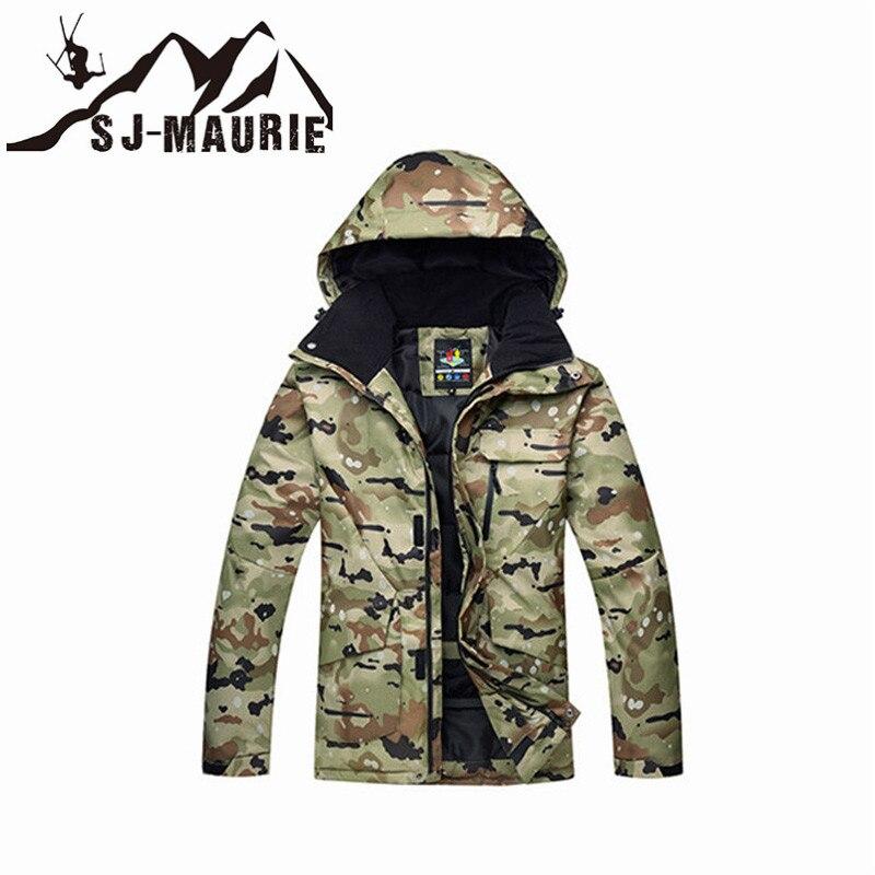 Veste de Ski homme veste de Snowboard Camouflage combinaison de Ski hiver imperméable coupe-vent veste de chasse d'hiver - 6
