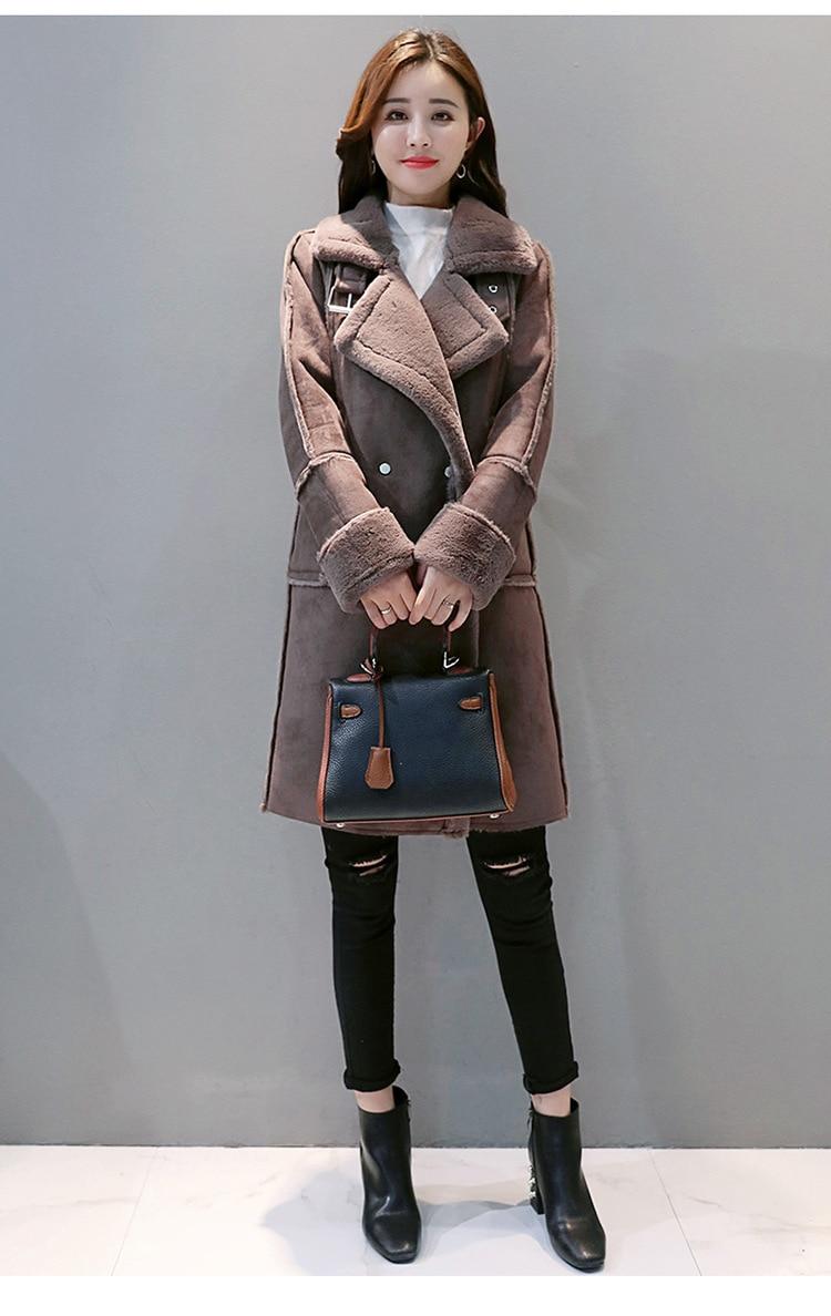Autunno 2018 Di imbottiture Dark Spessa Miscela Maglia Grey Cappotto Inverno Turn Elegante Giacca Lunga Collare A Nuovo Outwear pink Manica Casual Cotone xedBQCoErW