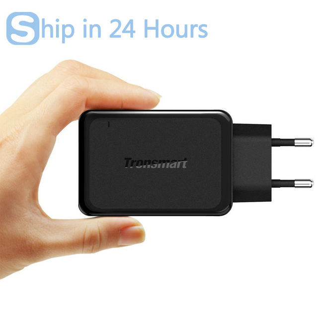Tronsmart W2PTU 2 Ports USB Charger Qualcomm Quick Charge 3.0 QC3.0 Certified 33W USB Type C Smart Charger for Cell Phone Type-C