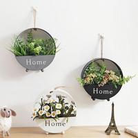 철 벽 장착 꽃 바구니 침실 장식 분재 거실 꽃 선반 레스토랑 식물 화분