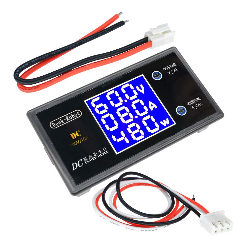 DC 0-100V 10A LCD Display Digital Voltmeter Ammeter Wattmeter Voltage Current Power Meter Volt Detector Tester 12V 24V 36V 1000W