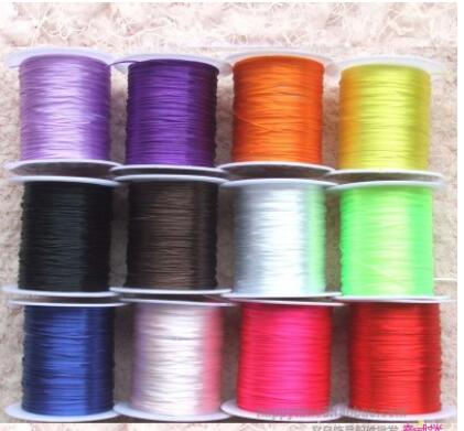 10 ROLLS Crystal Beading Stretch Cord Elastic Line Mixed Colored Woven Elastic/Wax Ropes fashion Jewelry Making