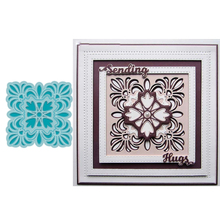 Square Hollow Lace Frame Cutting Die Scrapbooking Template Card Album Making DIY Stencil Embossing Craft Animal New Dies 2019