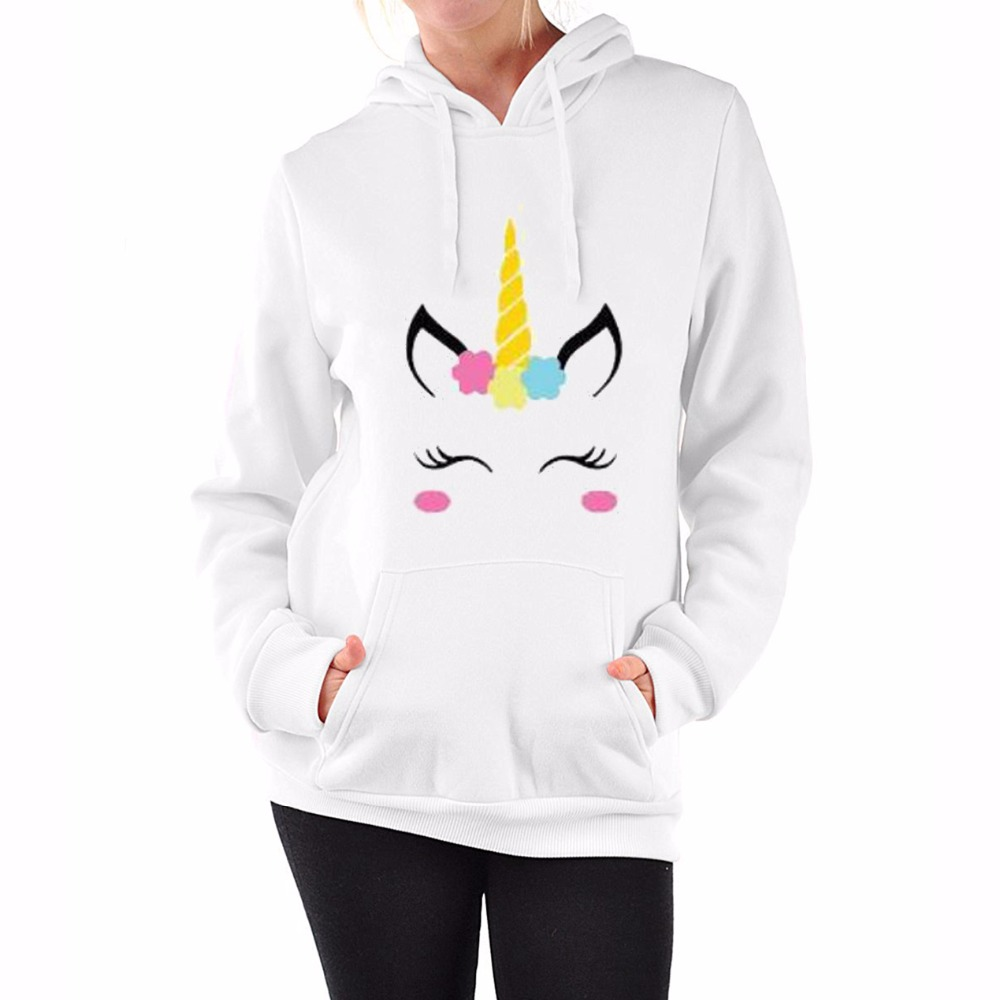 Fashion Women Cartoon Jacket Slim Fit Down Hoodie Winter Jacket Unicorn Cotton-padded Women Jacket Outerwear Coat Parka Z30