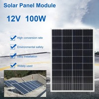 New 100W Durable Polycrystalline Solar Power System Module Solar Panel 12V Battery Charging For Off Grid RV Boat Motorhome