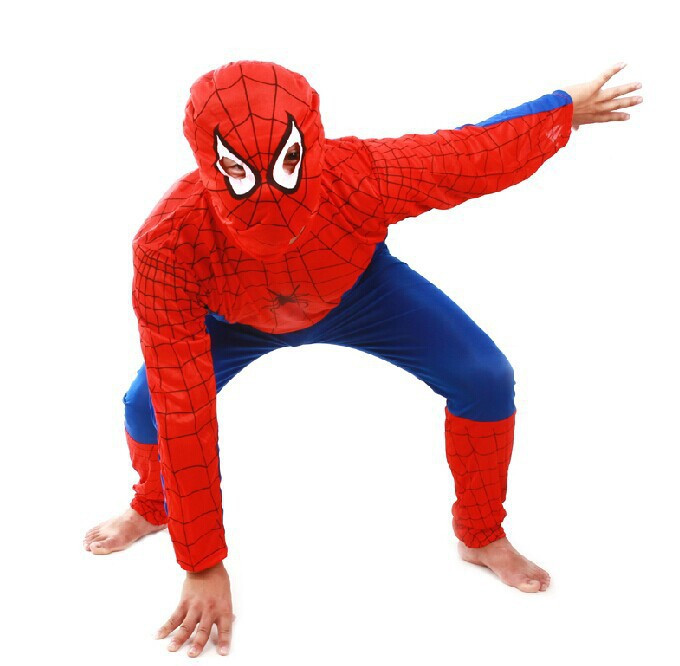 Movie Amazing Spider-Man Boys Spiderman Cosplay Jumpsuit With Mask