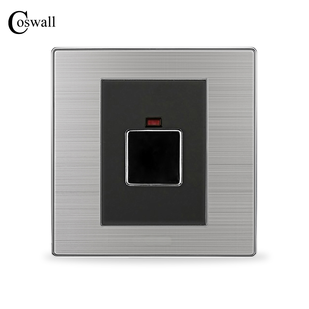 Luxury Touch Time Delay Light Switch Wall Interruptor Brushed Silver Stainless Steel Panel Power Conmutador Corridor alarm button fire emergency call luxury switch panel alarm with key brushed silver stainless steel sos panel