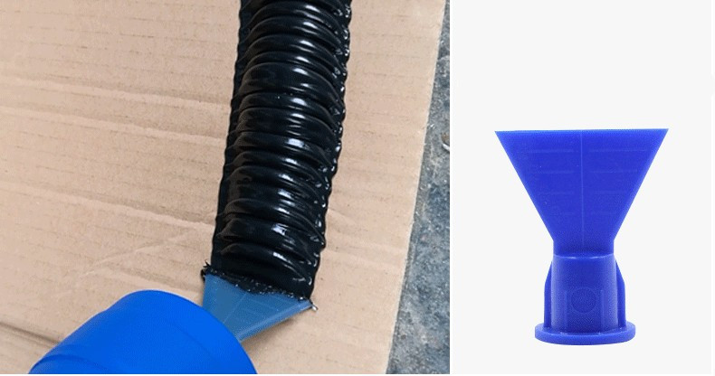 Wave Shape Silicon Cone For Cartridge Caulk Gun Sealant Tool Spare Nozzle 10pcs