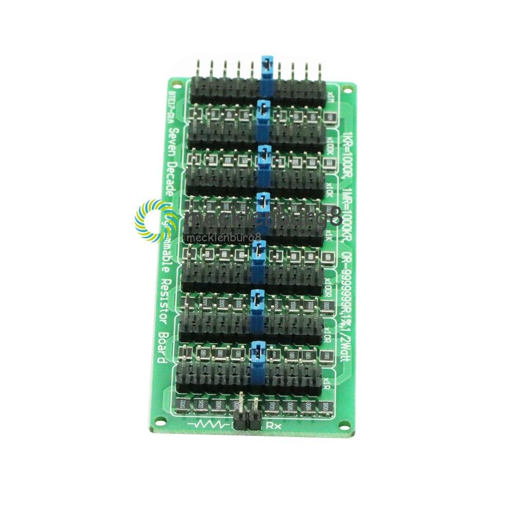 1R - 9999999R 7 Seven Decade Programmable Adjustable SMD Resistor Board Step Accuracy 1R 1% 1/2 Watt Module 200V