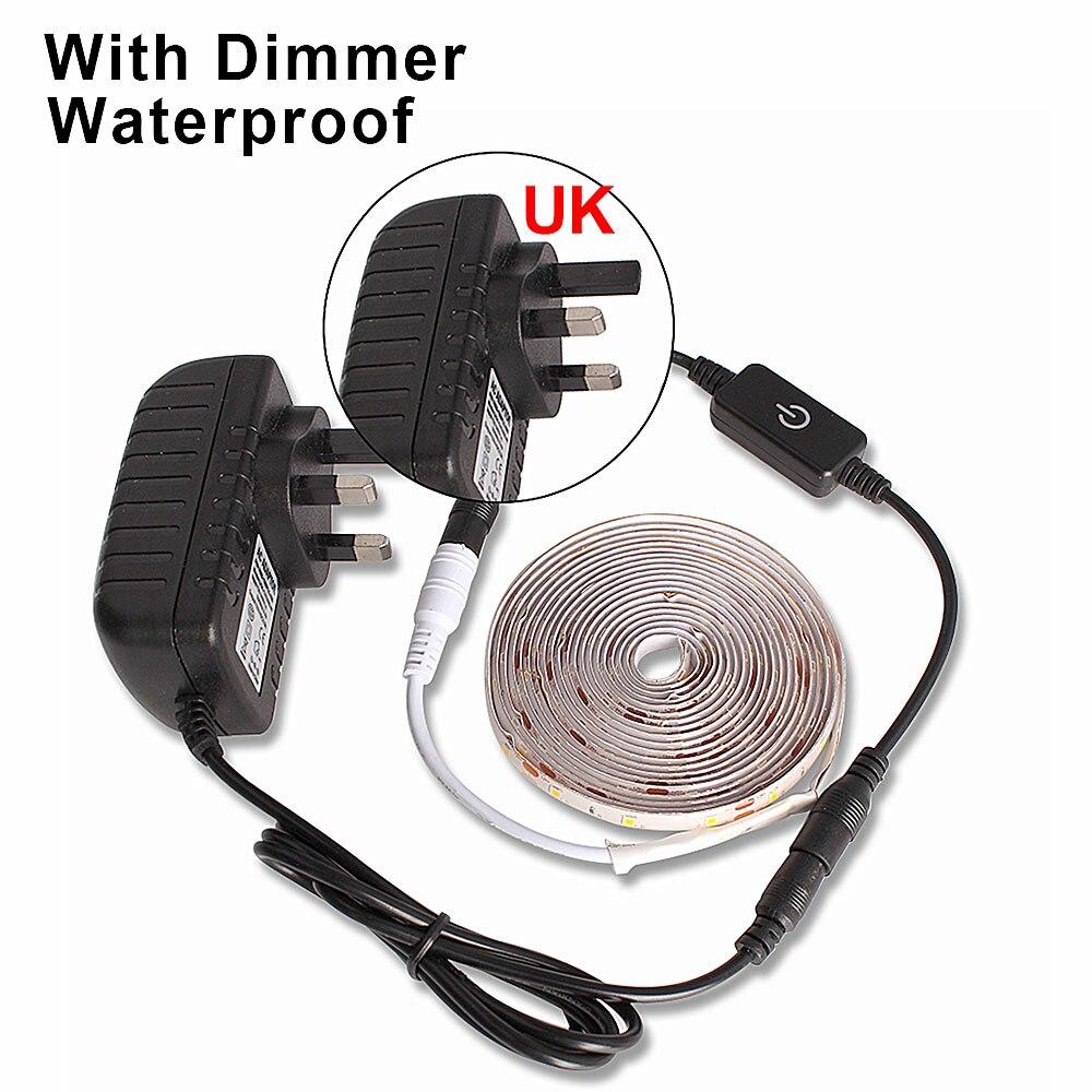 HTB1ER5zaUGF3KVjSZFmq6zqPXXaV 5M LED light Strip Waterproof 2835 Ribbon LED Strip Dimmable Touch Sensor Switch 12V Power Supply For Under Cabinet Kitchen Lamp