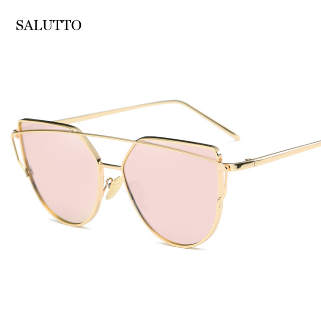 Damen-Sonnenbrille Fashion Big Frame Farbe Linse Sonnenbrille Polarisierte Fahrspiegel Rosa Rahmen Roségold n5oZ4vXp1A