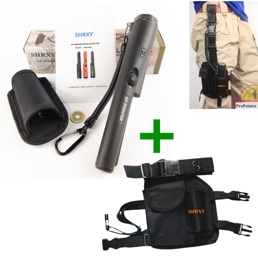 Pro Pinpointing Metal Detector GP-pointer Gold Pinpointers pointer Metal Detector with Drop Leg Pouch Bag kit дрель dwt sbm 1050 t