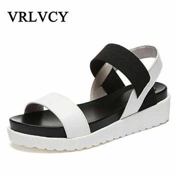 Ladies Sandals Hot Summer Fashion Sweet Lady Flat Shoes With Fashion Wear Non-Slip Sandals Ladies Shoes (Fast delivery) Sandals