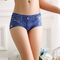 2016 High Quality Women S Cute Briefs Underwear Simulation Of Jeans 3D Printing Blue Red Black