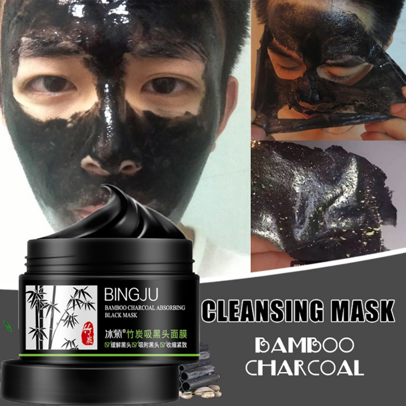 Black Mud Move Black Head Bamboo Charcoal Face Mask Remover Deep Clean Blackhead Mask Beauty