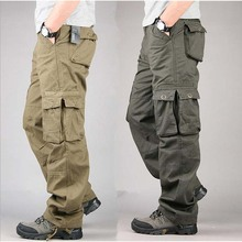 Plus Size 30-40 New Brand Mens Military Loose Cargo Pants Man CASUAL PANTS More Pockets Trousers Outdoors Overalls Big Size