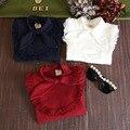 Новая детская мода одежда хлопка вершины мультфильм новорожденных девочек печать с длинным рукавом футболки осень зима милый для 2 - 7 у девушки