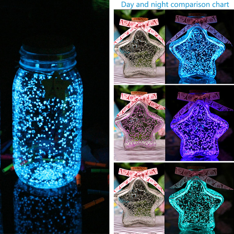 Magic Fluorescent Glow In The Dark Luminous Party Bright Paint Star Wishing Bottle Particle Luminous Sand Toys For Children Gift
