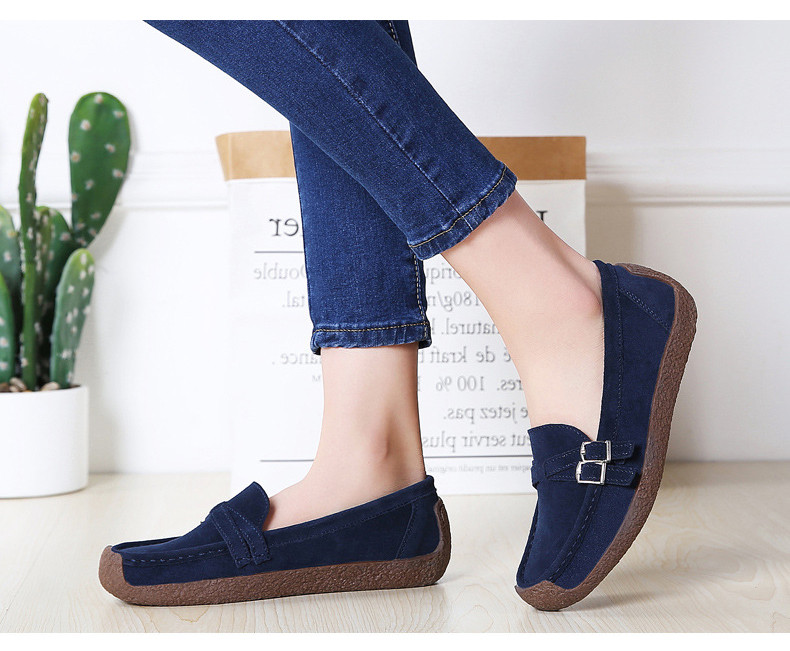 HX 7732-2019 Spring Autumn New Arrival Genuine Leather Women Flats Shoe-14